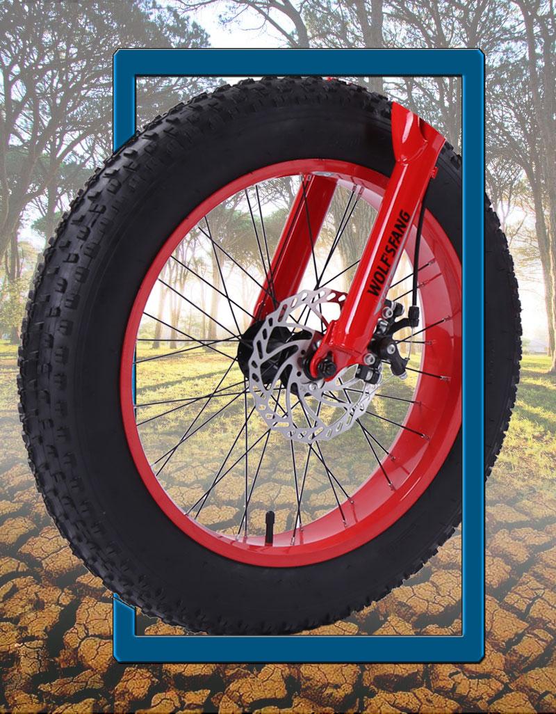 "HTB1.H0.bXY7gK0jSZKzq6yikpXaf wolf's fang bicycle mountain bike 7 /21 speed 2.0""X 4.0""bicycle Road bike fat bike Disc Brake Women and children"