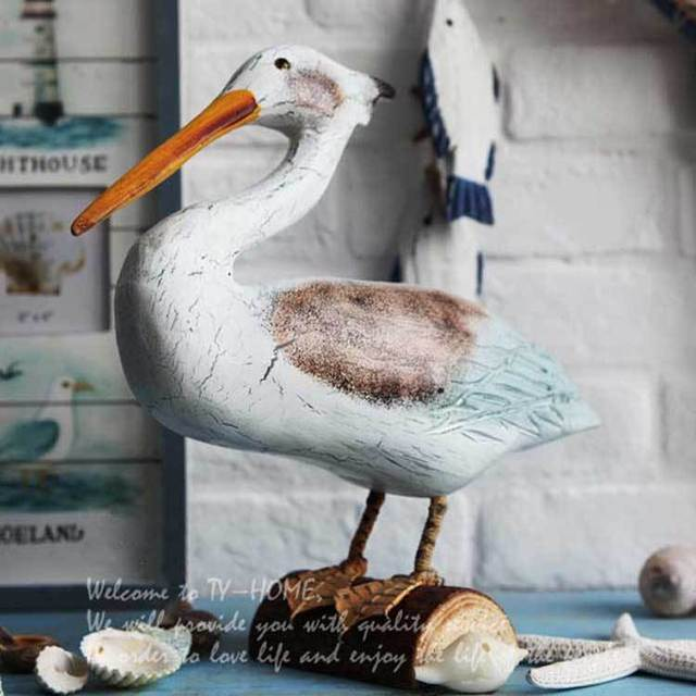 articles cormorants style solid home decor free aliexpress com wood craft crafts seabirds nordic - Home Decor Articles
