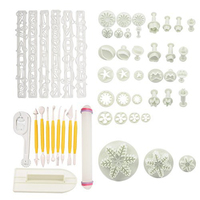 53pcs Set Full Sets Cake Decration Tool Set By Fondant Cake Cutter Mold Sugarcraft Icing Decorating