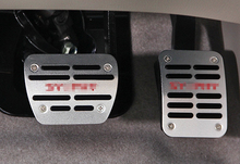 Free Shipping 2PCS No Drilling Aluminium AT Foot Pedals / Pedal For Nissan Sentra Sylphy 2012 2013