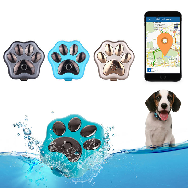 APRICOTCAR Waterproof 3G GPS Tracker GSM WIFI GPS Locator Real Time Tracker Paw for Pets Dogs Cats Elders Mini Tracking Device