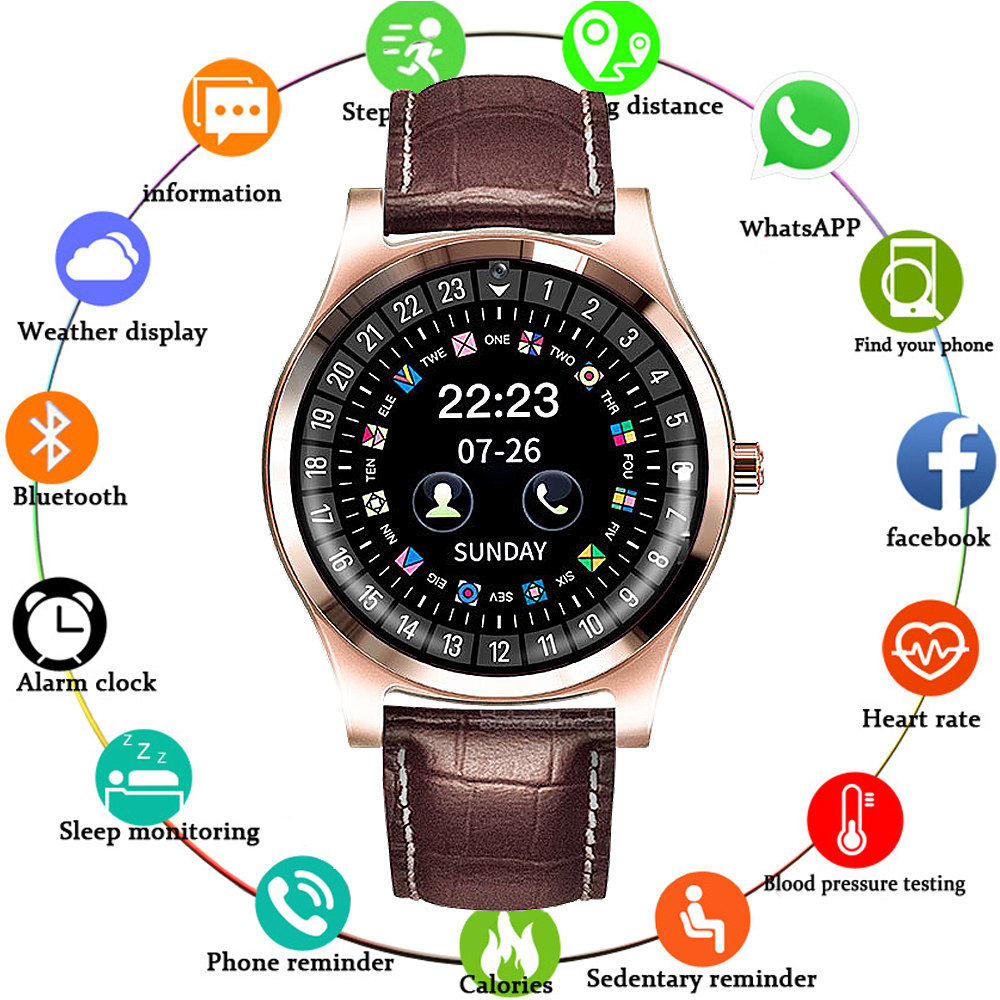 Mnwt Brand Luxury Men Bluetooth Smart Watch New Male Q912 With Shooting Function Smartwatch Support Sim Tf Card For Ios Android To Help Digest Greasy Food Watches