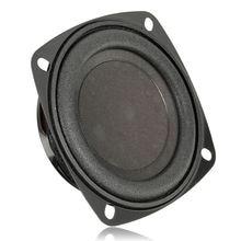 New Black 3-inch Square Passive Bass Radiator Woofer Radiators Passive Speaker Multi-tone Claxon Horns for Car