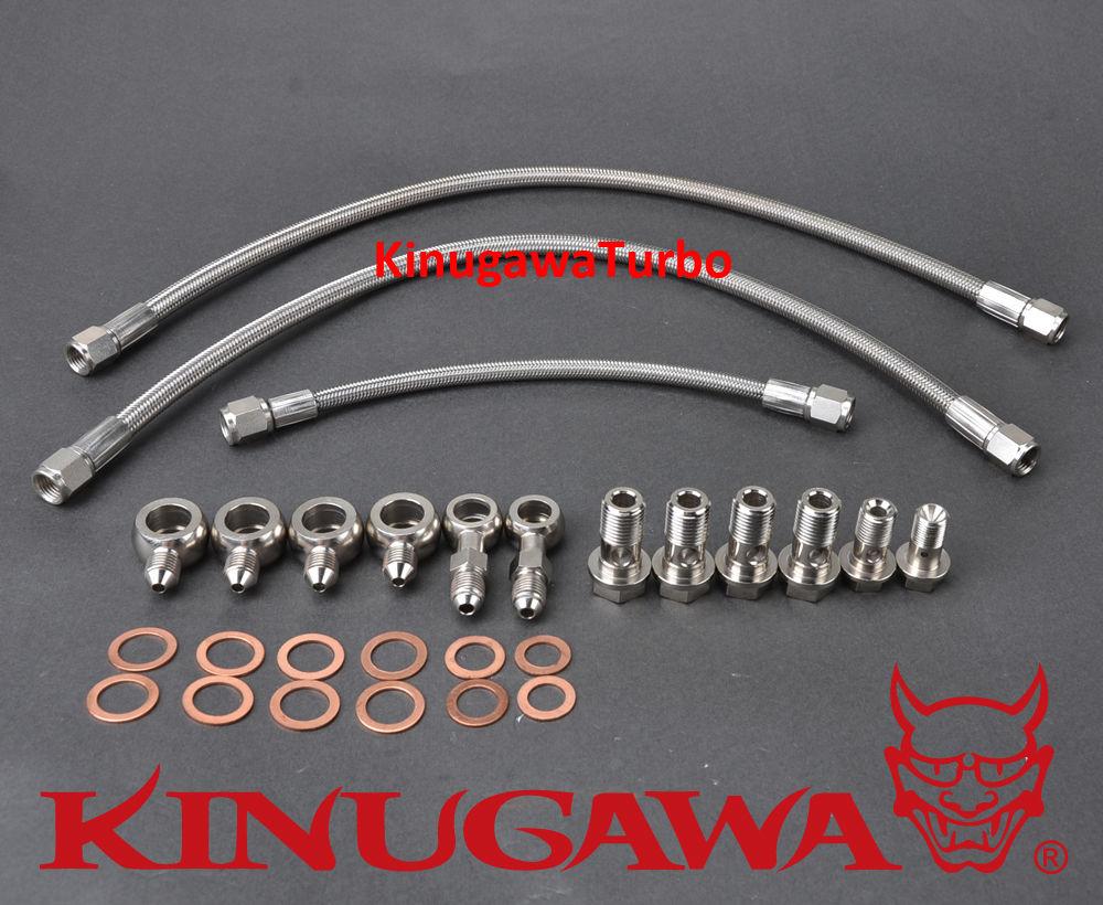 Kinugawa Turbo Oil & Water Line Kit for Nissan Silvia S14 S15 SR20DET Standard T25 T28 Turbo kinugawa turbo oil