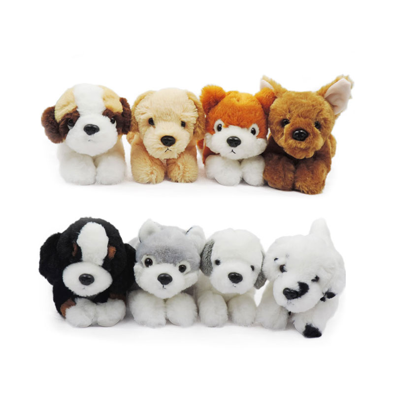 20cm Small Cute Puppy Soft Toys Stuffed Animals Dogs Puppies Doggie Plush Toy Peluche Pup Mut Doll for Children Kids Gifts 6pcs lsets simulated small animal cat squirrel fox cats owl puppy little rabbit various styles pocket animals plush doll