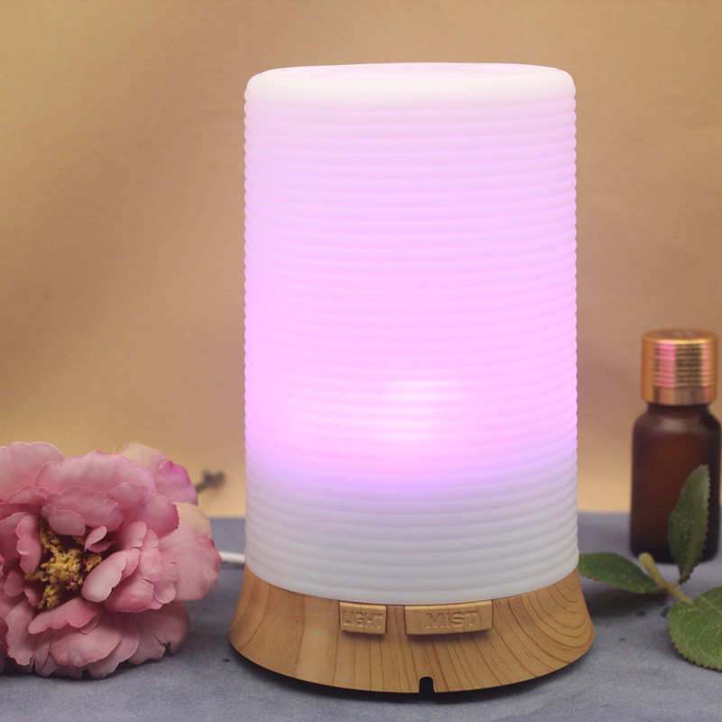 100ML Essential Oil Diffuser Ultrasonic Air Humidifier With 7 Color Changing LED Light Water Anion Water Atomizer