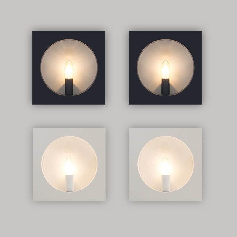 ФОТО Modern Simple Black White Bedroom Sitting Room Balcony Stair Corridor LED Wall Lamp