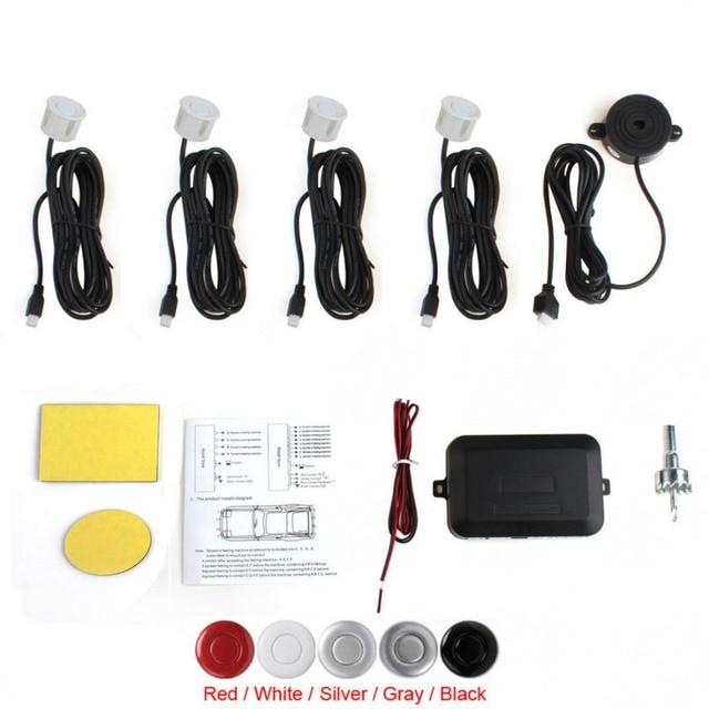 Human Voice Notification Car Parking Sensor System with Audible Alarm / Waterproof with 4 Sensors Buzzer Back Car Assistant