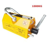 FREE SHIPPING 1000 KG STEEL MAGNETIC LIFTER HEAVY DUTY CRANE HOIST LIFTING MAGNET 2200LB
