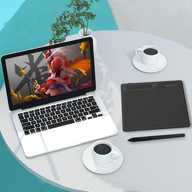 GAOMON S620 6.5x4 pollici 8192 livello supporto penna senza batteria Android windows Mac tavoletta grafica digitale per disegno e gioco OSU 5