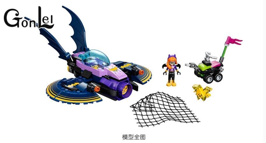 GonLeI Bale 10615 NEW DC Marvel Avengers Super Heroes Girl Friends Series Batman Batgirl Jet aircraft Building Block Toys