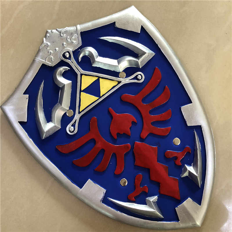 1:1 Cosplay Shield Link Safety PU Material Weapon Kids Gift Role Play Gift Halloween Link 34*45cm