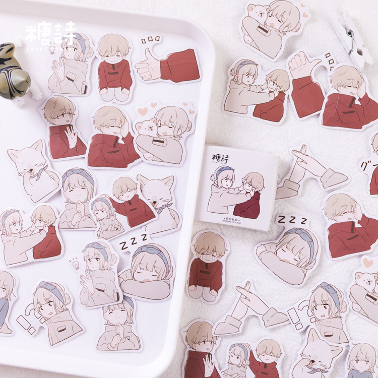 45 Pcs/pack Fall In Love Overture Bullet Journal Decorative Stationery Stickers Scrapbooking DIY Diary Album Stick Label