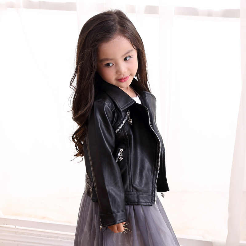 37b4bee7b41f Detail Feedback Questions about Baby Spring girls leather jackets ...