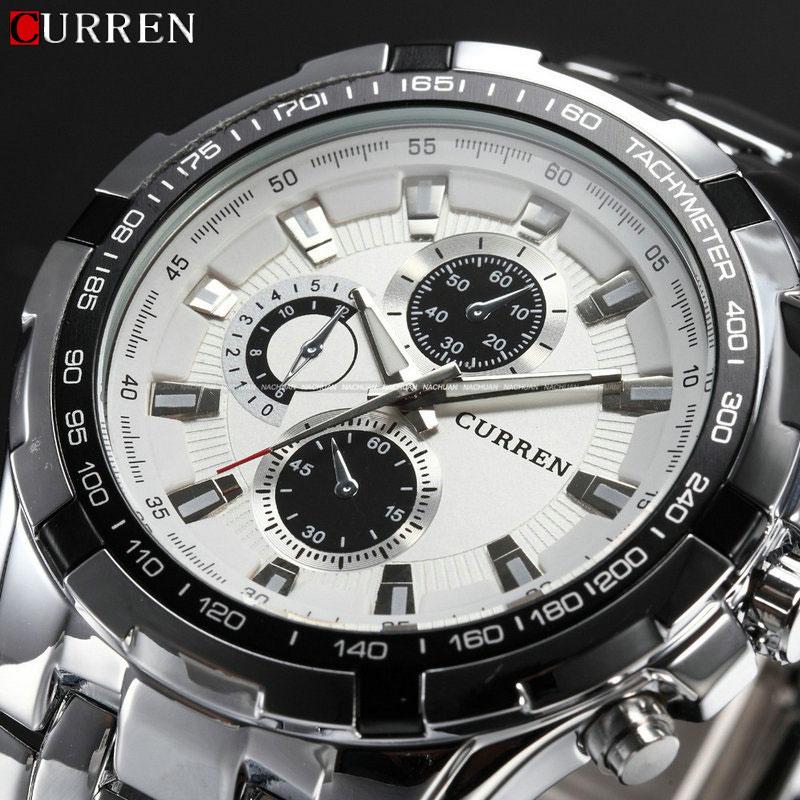 2018 neue Curren Luxus Marke Uhren Männer Quarz Mode Lässig Männlich Sport Uhr Voller Stahl Militär Uhren Relogio Masculino