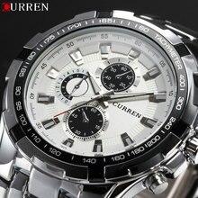 2018 nowa luksusowa marka curren zegarki mężczyźni moda quartz na co dzień męski zegarek sportowy ze stali nierdzewnej wojskowy zegarki Relogio Masculino