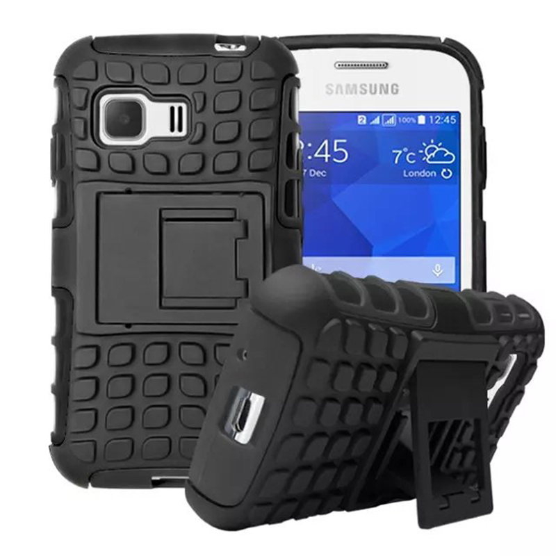 Heavy Duty Impact Hybrid Armor Cover Hard Plastic Case for Samsung Galaxy Young 2 G130 With Kickstand Phone Cases IDOOLS  samsung young 2 | Samsung Young 2 Heavy Duty Impact Hybrid Armor Cover Hard Plastic Case for font b Samsung b font Galaxy