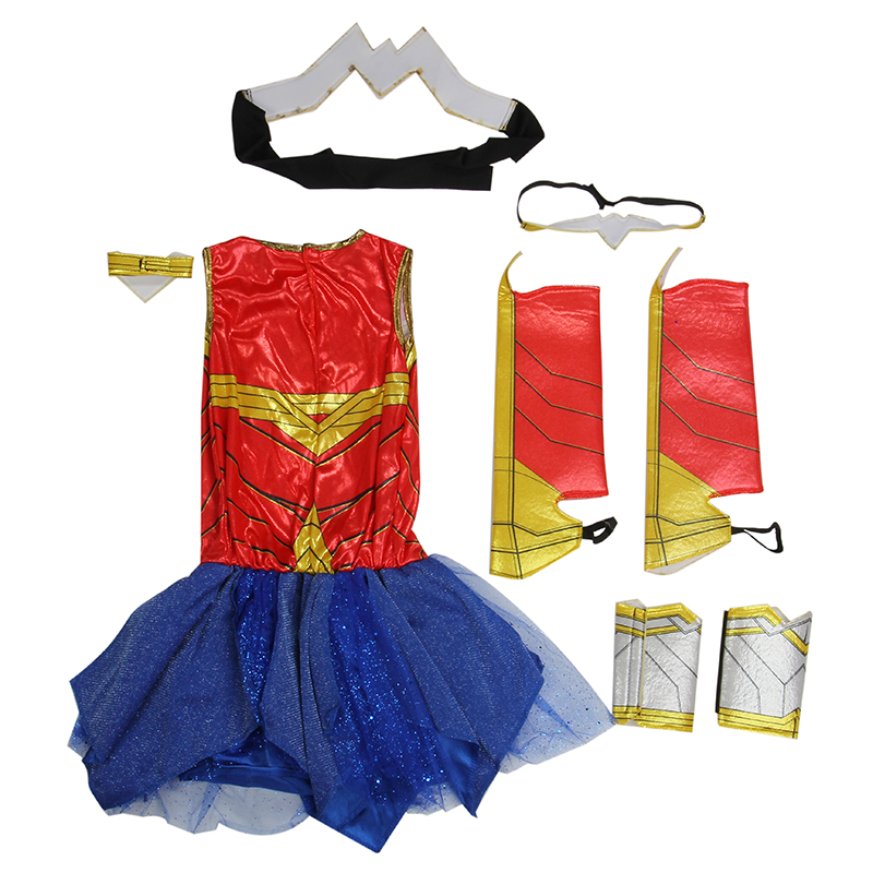 Kids Dawn Of Justice DC Superhero Wonder Woman Halloween Costume Girls Princess