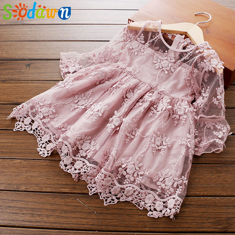 Sodawn Children Clothing New Spring Autumn Lace Flower Embroidered Sleeve Princess Dress Girl Clothes Fashion Baby Girls DressSodawn Children Clothing New Spring Autumn Lace Flower Embroidered Sleeve Princess Dress Girl Clothes Fashion Baby Girls Dress