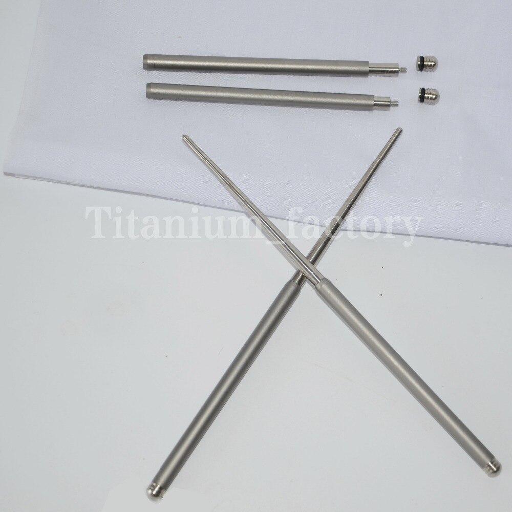 Outdoor tableware solid Foldable Titanium chopsticks camping picnic hiking titanium chopsticks 1 pair