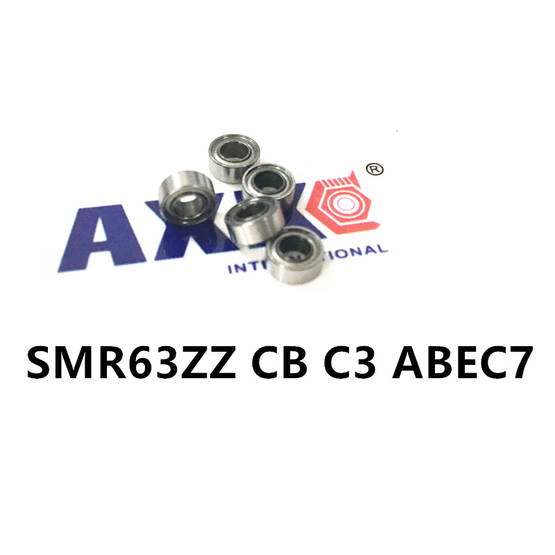 Free Shipping SMR63ZZ CB C3 ABEC7 <font><b>3x6x2.5mm</b></font> smr63 zz hybrid ceramic si3n4 ball Stainless steel rings <font><b>bearing</b></font> image