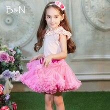 От 2 до 18 лет пышная шифоновая юбка, юбка-американка для малышей, 14 цветов, юбки-пачки, фатиновая юбка принцессы для танцевальной вечеринки для девочек