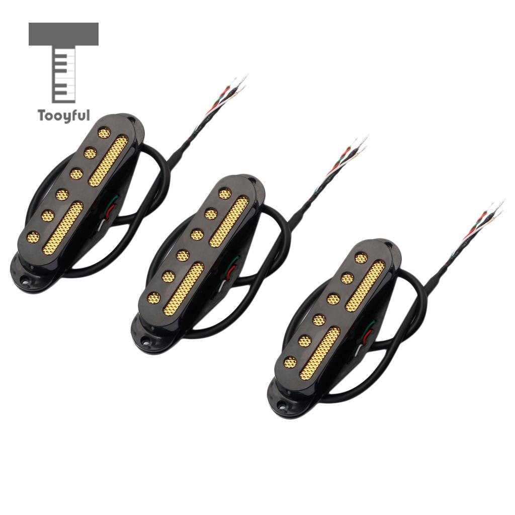 Tooyful SSS Standard simple bobine aimant micros Set cou/milieu/pont 48/50/52 pour les pièces de guitare électrique remplacements