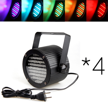 DHL Shipping 4* DMX Sound Control 86 RGB LED Spotlight Disco DJ Party Light Music Show Colorful Projector Lighting Effect