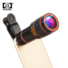 APEXEL 12X telescope Telephoto monocular phone lens for iPhone X 7 8 a