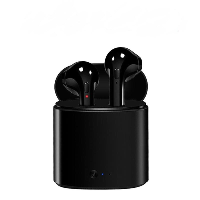 I7 i7s TWS Conjunto Fones de Ouvido Música Fones de Ouvido Sem Fio Bluetooth Estéreo Fone de Ouvido para o iphone X 6 7 Samsung 8 Xiaomi caixa de carga