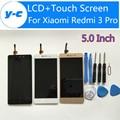 Para xiaomi redmi 3 pro display lcd + substituição do painel de tela de toque new chegou para xiaomi redmi 3 prime 1280x720 hd 5.0 polegada
