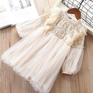 Image 3 - 2019スウィートガールレースメッシュ長袖プリンセスドレスキッズファッションパーティー誕生日のドレス子供服
