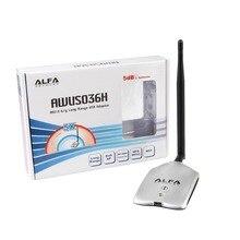 150 mbps de alta potencia alfa awus036h wireless usb wifi adaptador 802.11b/g red wifi rt3070l usb con antena 7dbi