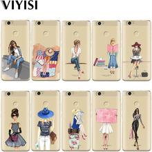 VIYISI Paris Girl For Huawei Mate9 10 lite case Pro P8 9 P10 20Lite Phone Case Nova2 Plus Honor9 6A Y5 2017 Y6 Y7II