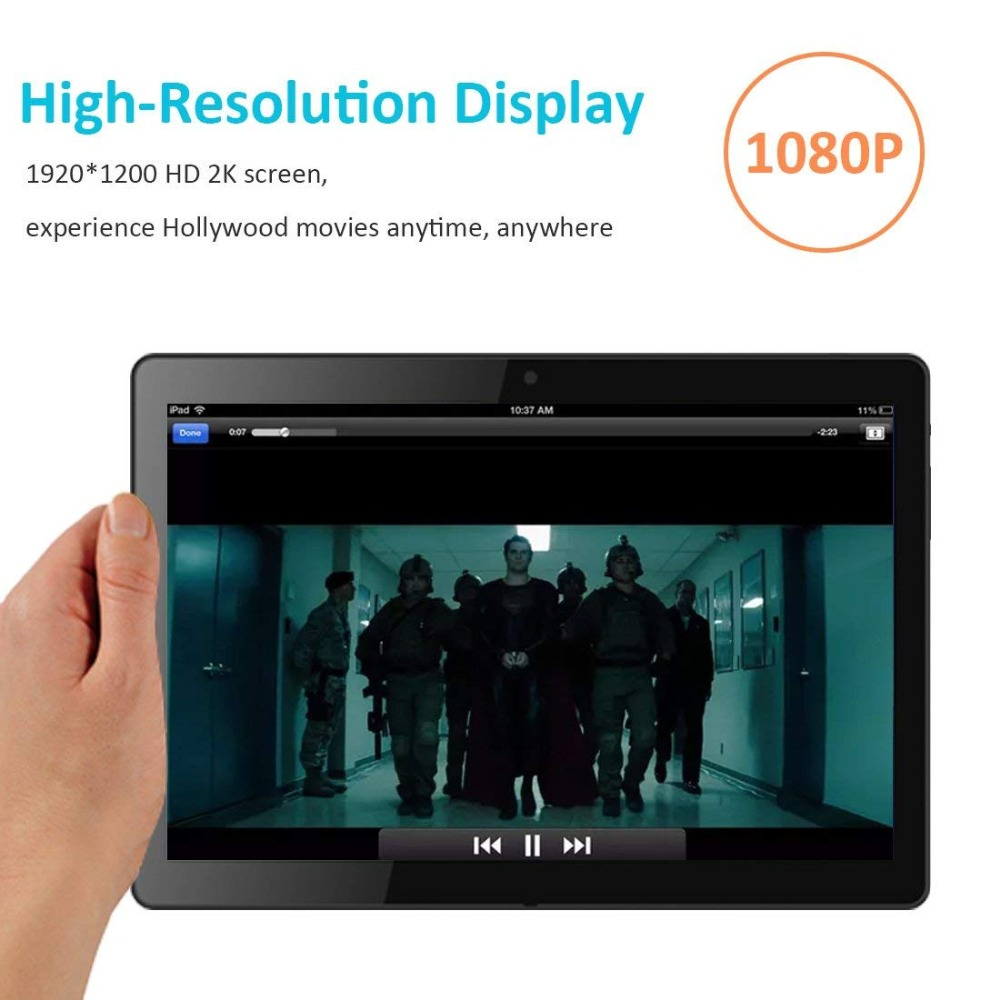 Russian Warehouse Ship Andriod 7.0 10.1 Inch Tablet Pc Wifi Bluetooth Ips 1920x1200 Touch Screen 2gb Ram +32gb Rom Dual Camera #3