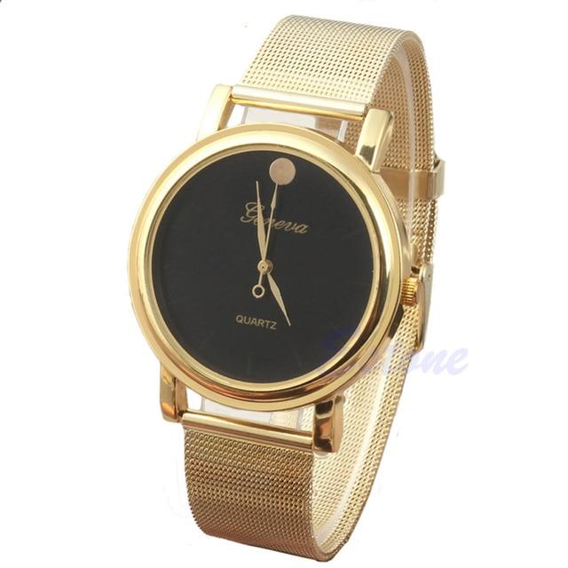 ad541eb6e7f0 Wholesale Brand NEW Fashion Women Girls Classic Gold Geneva Quartz Stainless  Steel Wrist Watch Gayly Best Gift