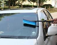 Blue Soft Bristle Wash Brush With Long Handle Switch Water Flow Foam Gun Car Wheel Cleaning