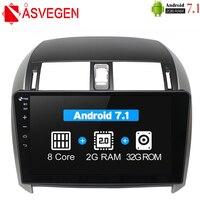 Asvegen Android Octa Core Car Radio DVD For Toyota COROLLA 2007 2013 2 Din Car Stereo