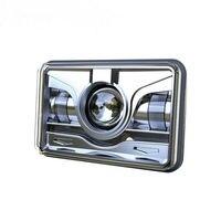 2PCS 4X6 LED Rectangular Headlight with Red Angel Eyes, 45W LED Driving Lights for Trucks Jeep Wrangler