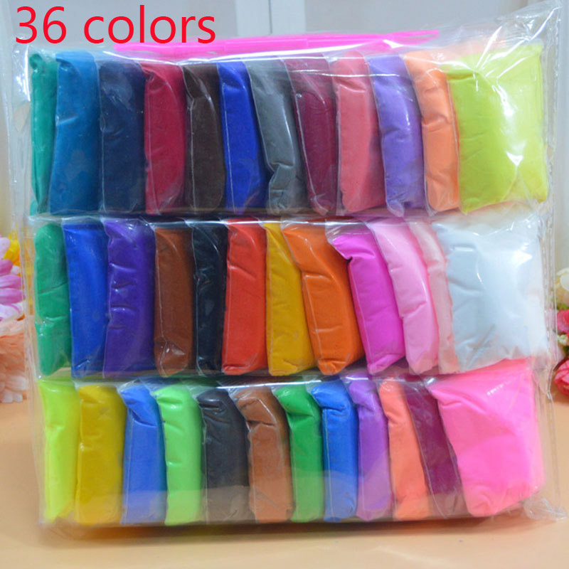 Slime 36pcs/set DIY safe and nontoxic Malleable Fimo Polymer Clay playdough Air Clay Polymer Plasticine Modelling Clay