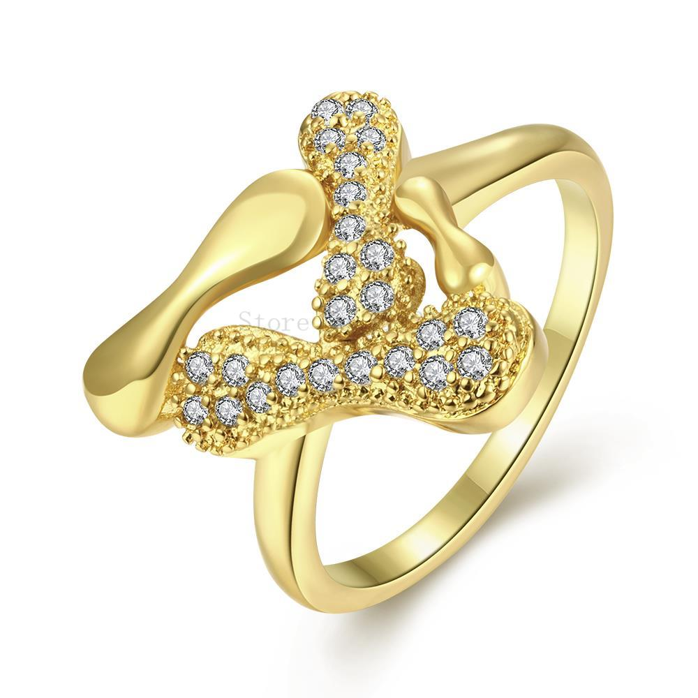 ZR254 A 8 Top Quality Yellow Gold Color Austrial Crystal Paved Ring ...