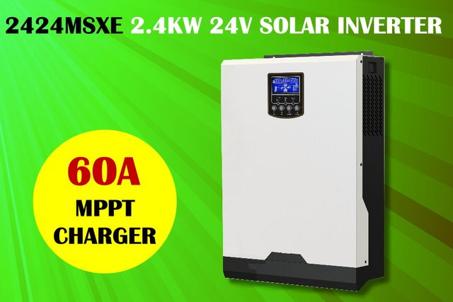 3KVA 2400w 24v 230V Solar inverter with MPPT solar charger 60A + battery charger 60A