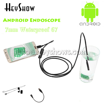 5PCS 7mm Waterproof Endoscope Android Usb Endoscope Camera Inspection Car Otoscopio Endoscopio Mini Endoskop With 6 LED Light