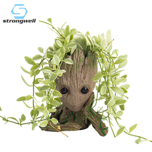 Creative Flower Pot Baby Groot Planter Action Figures Tree Man Model Toy For Kids Holder Garden