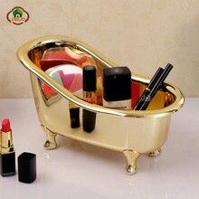 Msjo органайзер для макияжа, пластиковая мини-ванна, коробка для хранения мыла и ювелирных изделий, шкатулка для ногтей, Настольный держатель, чехол для хранения