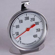 лучшая цена 400 C pointer type oven thermometer, large dial stainless steel household baking thermometer, free shipping