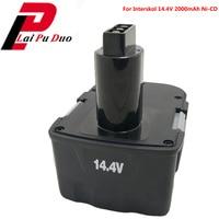 H14 14.4V 2000mAh Ni CD DA 13 / 14.4E Power Tool Replacement Battery Cordless Drill for Interskol