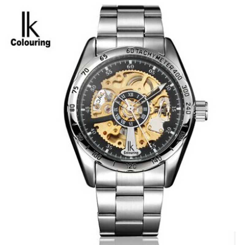 ФОТО Ik watches for automatic mechanical male table double faced cutout men's watch casual fashion watch