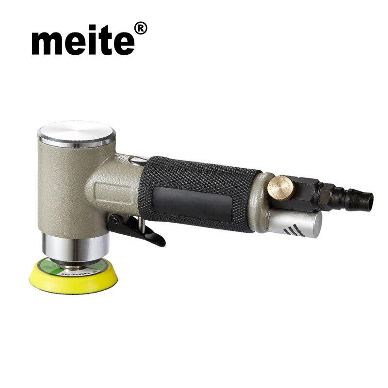 Meite MT-5103 Pneumatic Air Polisher Sander Eccentric Polishing Machine Pneumatic Polisher Tool May.5th swingable pneumatic eccentric grinding machine 125mm pneumatic sander 5 inch disc type pneumatic polishing machine