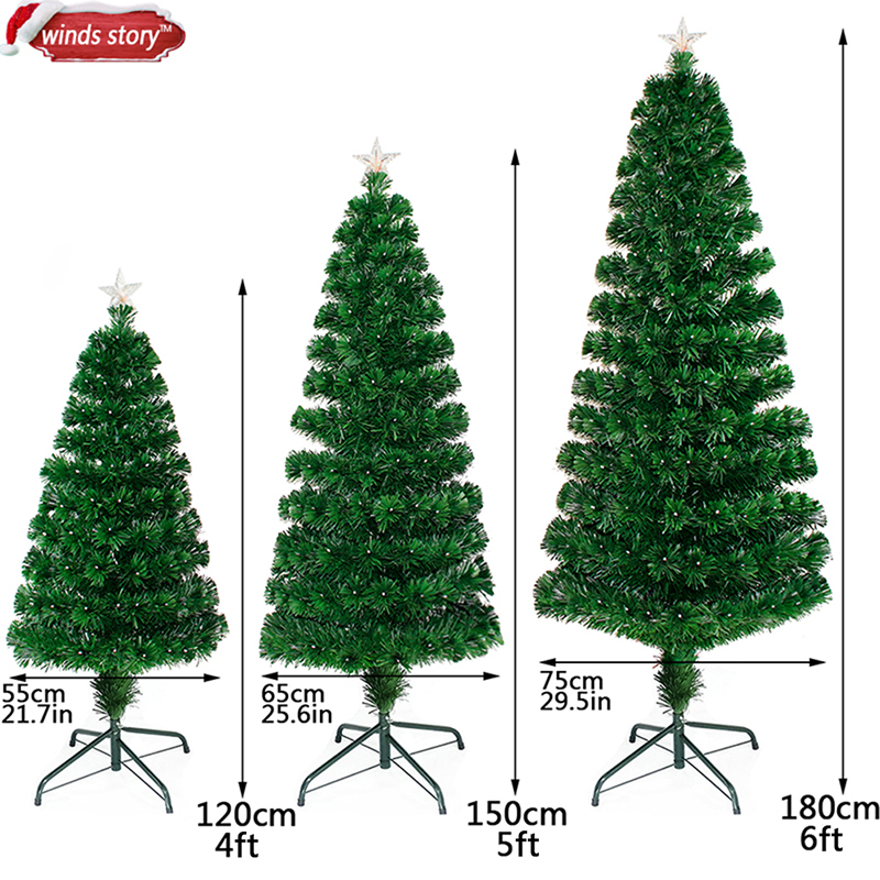 aliexpresscom buy christmas decorations 456 fiber optic christmas tree led colour changing traditional artificial green flash xmas tree gift from